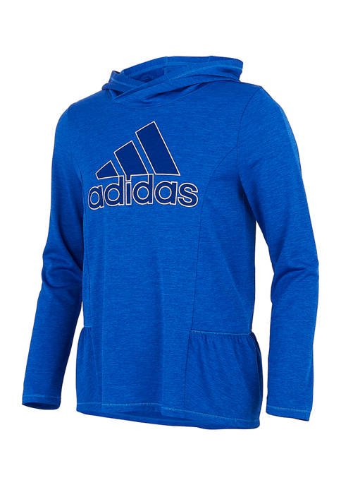 adidas Girls 7-16 Melange Hooded T-Shirt