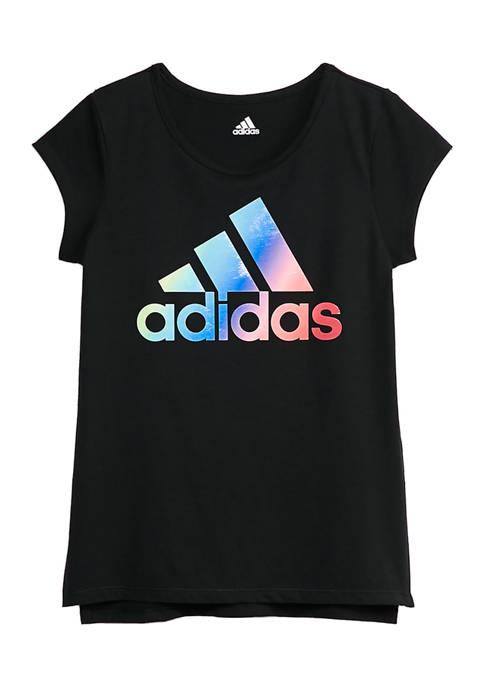 adidas Girls 7-16 Short Sleeve Side Vent T-Shirt