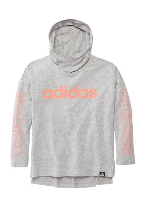 Girls 7-16 Long Sleeve Hooded T-Shirt