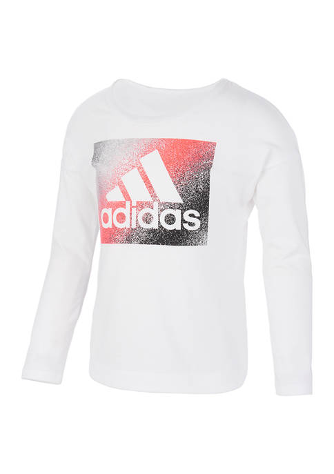 adidas Girls 7-16 Long Sleeve Slit T-Shirt