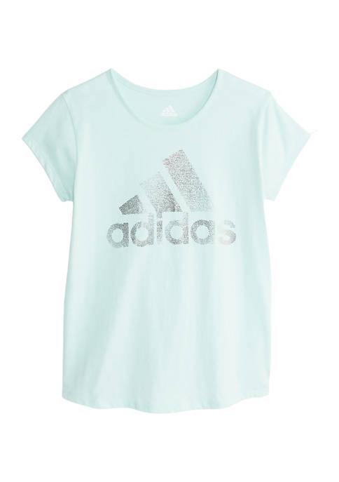 adidas Girls 7-16 Logo Graphic T-Shirt