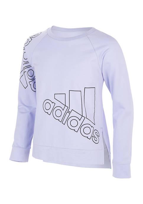 adidas Girls 7-16 Long Sleeve Crew Neck T-Shirt