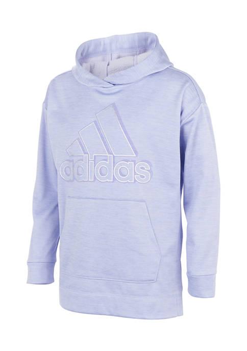 adidas Girls 7-16 Badge of Sport Mélange Fleece