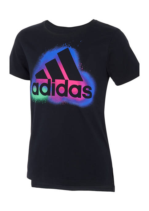 adidas Girls 7-16 Short Sleeve Side Vent Graphic