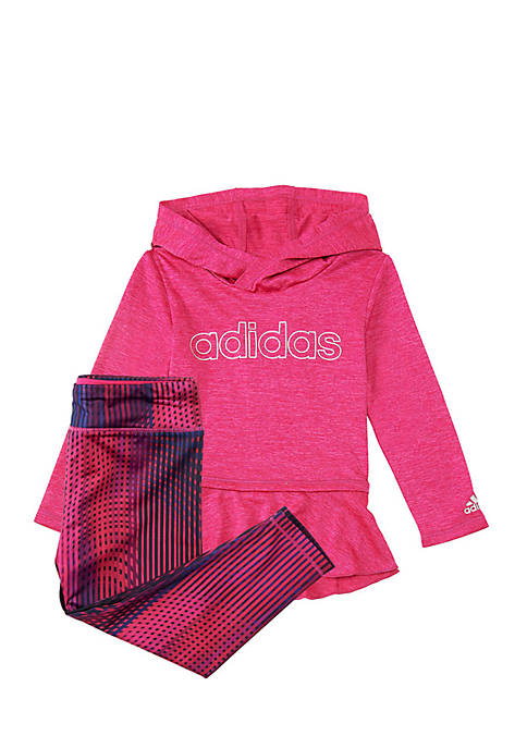 adidas Girls 4-6x Melange Printed Tight Set