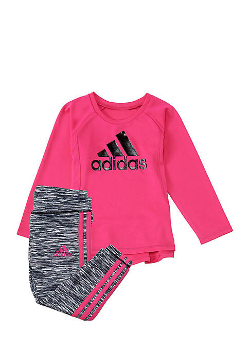 adidas Girls 4-6x Spacedye Tight Set