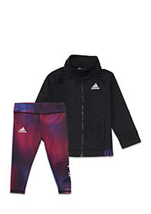 Girls 2-6x Tricot Jacket and Tight Set