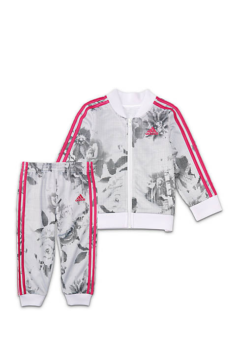 adidas Girls 2-6x Floral Bomber Set