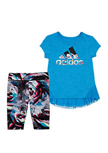 adidas Girls 2-6x Leap Capri Tight Set