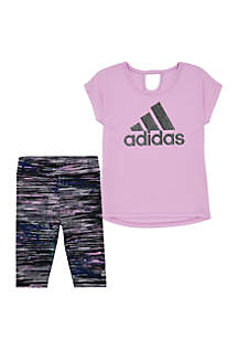 adidas Girls 2-6x Ultimate Capri Tight Set