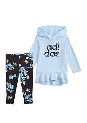 75de3230f adidas Girls 4-6x Hoodie and Printed Tights Set ...