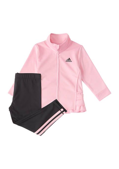 adidas Girls 4-6x Ruffle Tricot Jacket and Pants