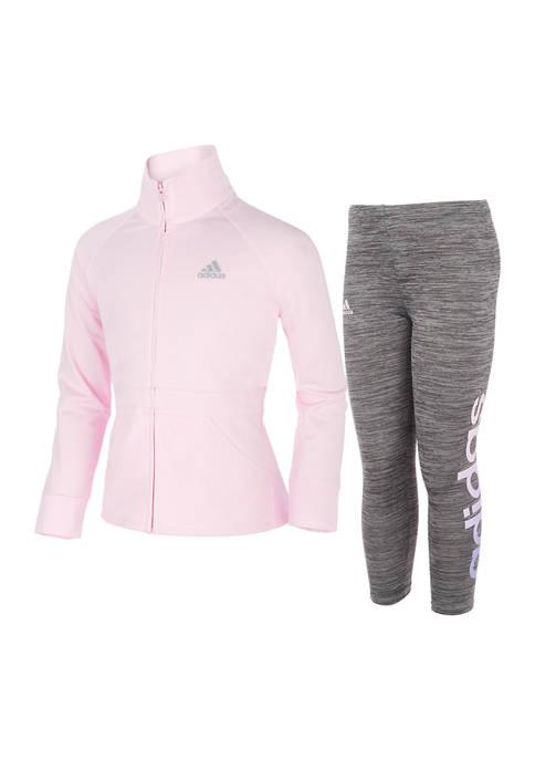 adidas Girls 4-6x Mock Neck Jacket Set