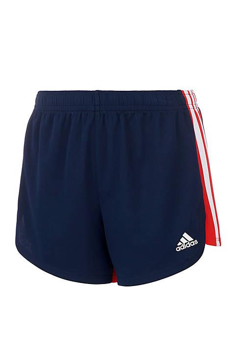 Girls 7-16 Three Stripe Blocked Shorts