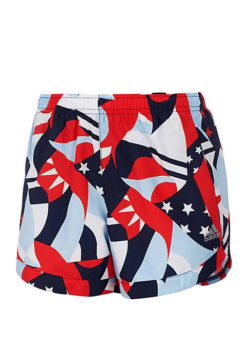 adidas Girls 2-6x Printed Training Shorts