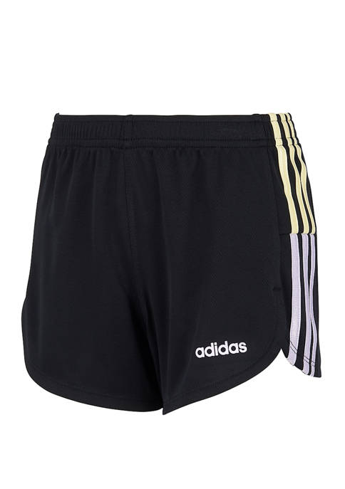 adidas Girls 7-16 Clashing Stripes Shorts