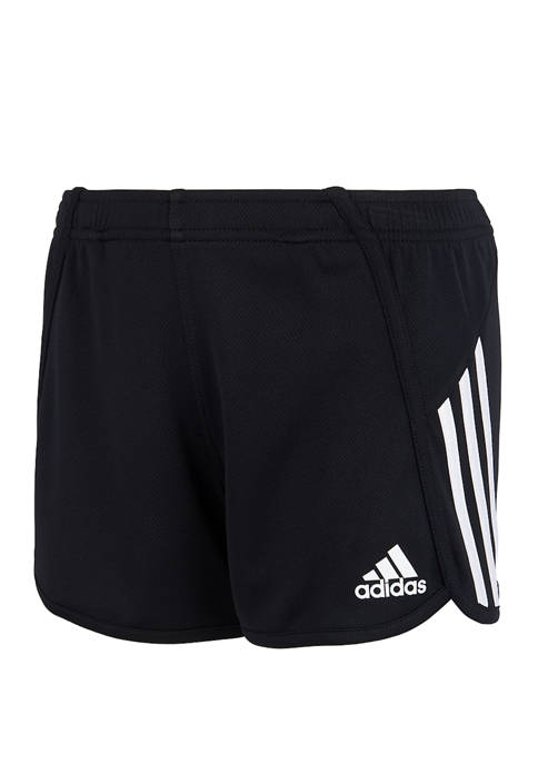 adidas Girls 7-16 Triple Stripe Mesh Shorts