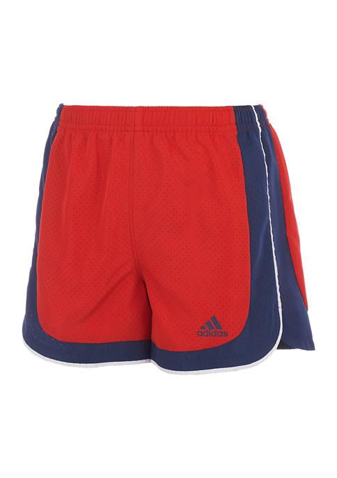 adidas Girls 7-16 Color Blocked Woven Shorts
