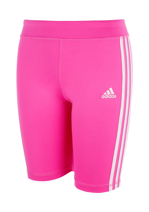 adidas Girls 7-16 3 Stripe Bike Shorts