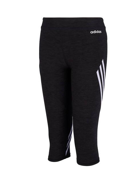 adidas Girls 7-16 3 Stripes Capri Tights