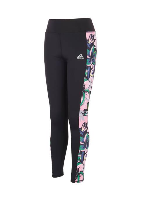 adidas Girls 7-16 Printed Panel Pocket Tights