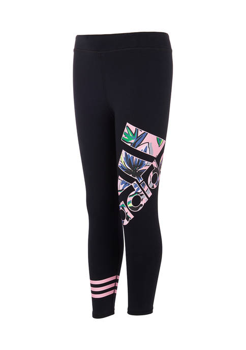 adidas Girls 7-16 Branded Love Graphic 7/8 Tights