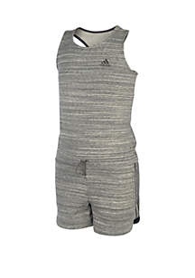 adidas Girls 7-16 Grey Transition Romper