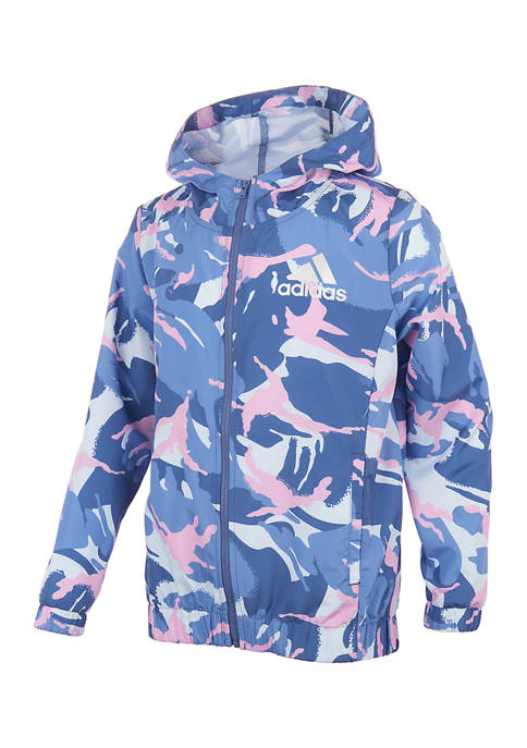 adidas Girls 7-16 Printed Wind Jacket
