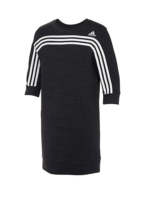 adidas Girls 7-16 French Terry Stripe Dress