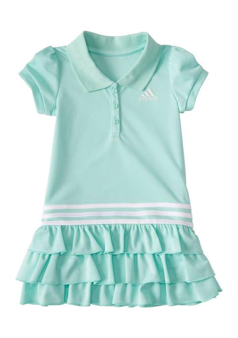 adidas Girls 4-6x Short Sleeve Polo Dress