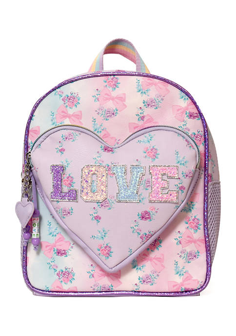 Girls Heart Pocket Tie Dye Mini Backpack