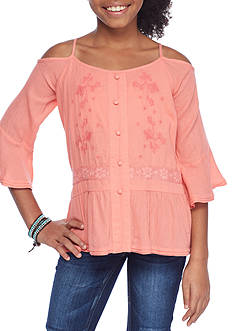 Jessica Simpson Cold Shoulder Top Girls 7-16