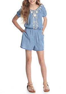 Jessica Simpson Embroidered Romper Girls 7-16