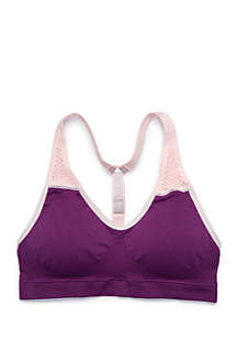 Girls 7-16 Seam-Free Mesh T-Back Sports Bra