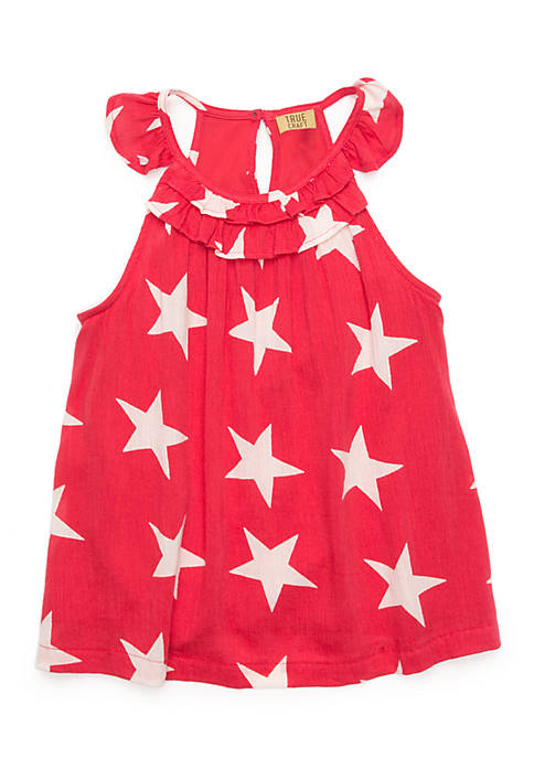TRUE CRAFT Toddler Girls Ruffle Knit Dress