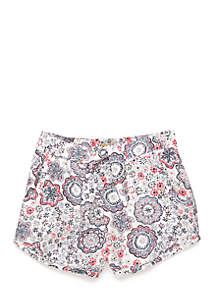 Printed Challis Shorts Girls 4-6x