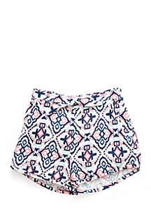 Printed Challis Shorts Girls 4-6x
