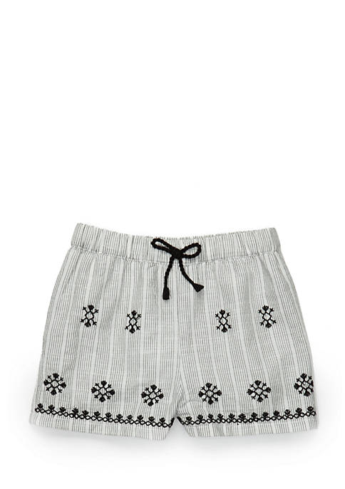 TRUE CRAFT Girls 4-8 Embroidered Shorts