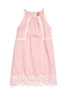 Girls 4-8 Crochet Trim Dress