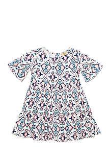 Girls 4-6x Short Sleeve Tiered Dress