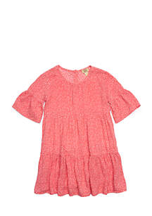 Girls 4-6x Short Sleeve Tiered Dress
