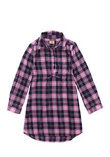 Girls 4-8 Holiday Plaid Dress