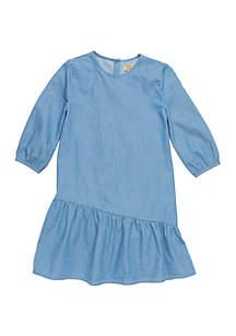 TRUE CRAFT Girls 4-6x Ruffle Hem Dress