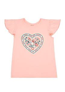 TRUE CRAFT Girls 4-8 Short Flutter Sleeve Tee