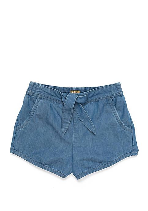 TRUE CRAFT Girls 4-8 Front Tie Shorts