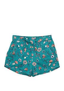 TRUE CRAFT Girls 4-8 Print Front Tie Shorts