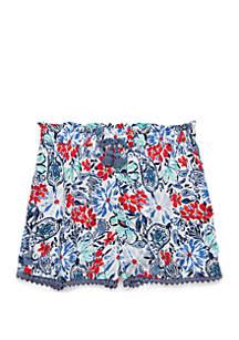 TRUE CRAFT Girls 4-6x Crochet Shorts