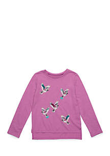 Toddler Girls Long Sleeve Bird Tee