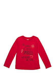 Toddler Girls Long Sleeve Sparkle Tee