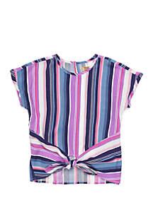 TRUE CRAFT Girls 4-8 Dolman Sleeve Tie Front Top